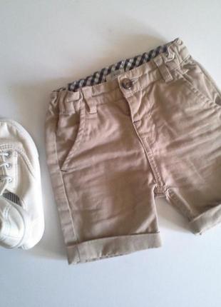 Sale!!! шорты на мальчика бежевые коттон от 3х мес до 2 лет
