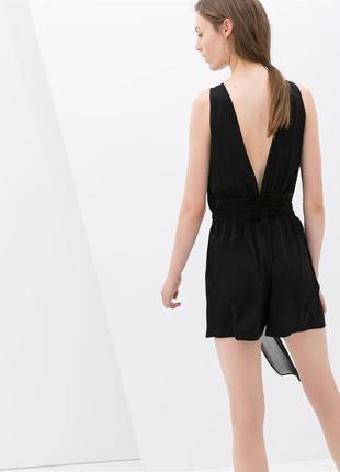 Распродажа красивый черный ромпер комбинезон шортами с открытой спиной zara