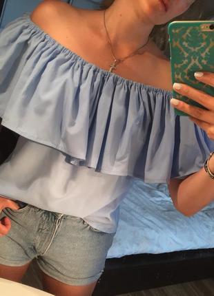 Блуза с рюшами, 100% хлопок