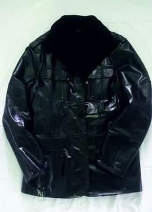 Зимняя куртка, дубленка. натуральная кожа, мех.