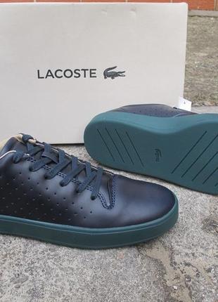 Кожаные кроссовки сникерсы lacoste оригинал. оригинал