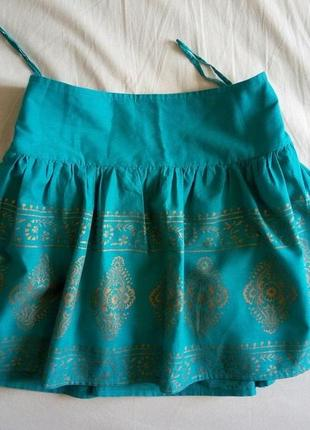 Летняя очень классная юбка atmosphere на манжете (кокетка)xl об-112