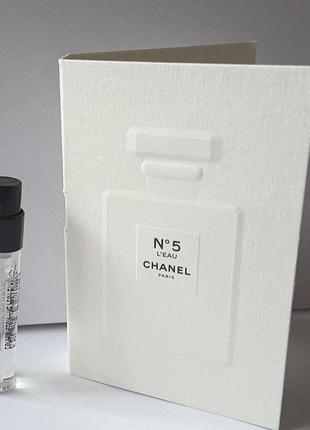 Пробник туалетной воды chanel n5 l`eau,  2 ml, франция