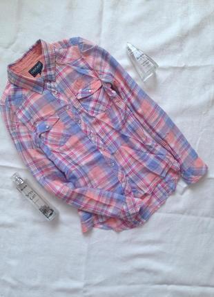 Котонова сорочка в клітинку
