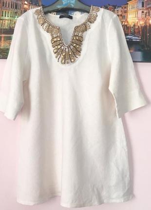 Льняная блуза , 100% лен