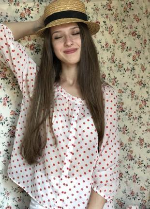 Блуза в горошек h&m