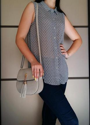Блуза без рукава на пуговицах h&m