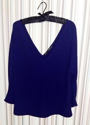 Синяя блузка-топ zara на 46-48 размер