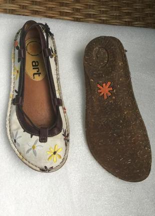 Туфли кожа текстиль art с вышивкой, текстиль и кожа снаружи