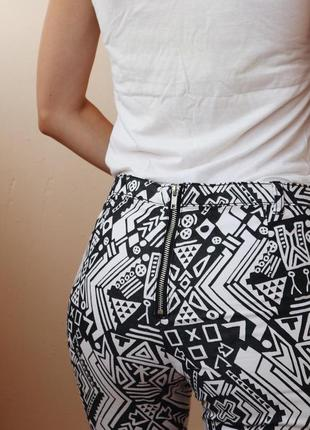 Крутые штаны с молнией сзади