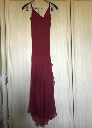 Новое роскошное платье в пол шелк 100% jigsaw 10-12pp