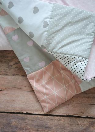 Нежное лоскутное одеяльце 120*100