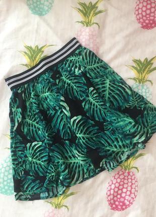Стильная легкая летняя юбка