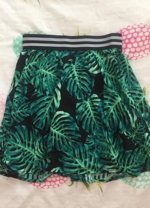 Стильная легкая летняя юбка4 фото