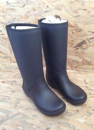 Резиновые сапоги крокс дождевые сапоги crocs rainfloe tall rain boot w7 w8 w9