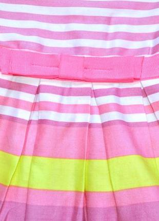 Платье в яркую полоску   c пышной юбкой на 12-18 мес. рост 86 см. next2
