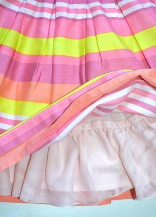 Платье в яркую полоску   c пышной юбкой на 12-18 мес. рост 86 см. next4