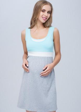 Хлопковая ночная сорочка в роддом, для беременных и кормления