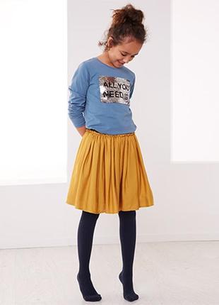 Пышная юбка горчичного цвета р.158 164 tchibo германия вискоза
