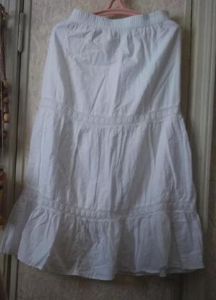 Белоснежная юбка макси