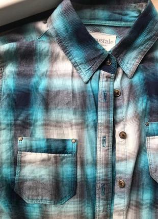 Рубашка в клетку красивейшего цвета