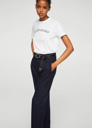 Белая футболка mango 100% коттон