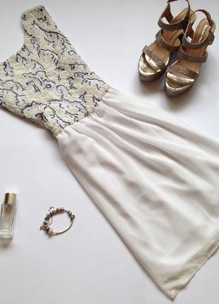 Белое платье в пайетки. смотрите мои объявления!