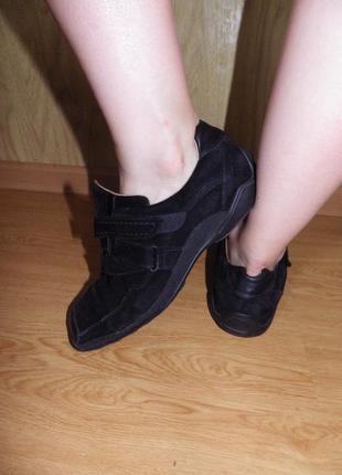 Мягкие/удобные спортивные туфли/нат.кожа и нат.замш кожа/26,5 см