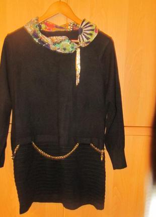 Тепленькое платье туника 48 размера