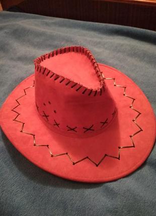 Шляпа карнавальная шляпа ковбойка шляпа