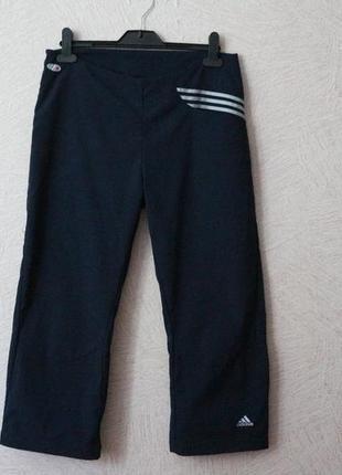 Adidas- оригинал, брендовые штаны, капри, р. m-l, сост.новых