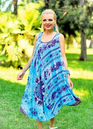 Новинка 2018 пляжная туника, платье, сарафан из вискозы indiano код 709