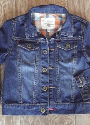 .джинсовый пиджак 2-3 г 100% хлопок