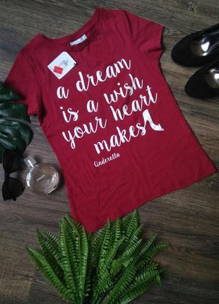 Котоновая футболка с мотивирующей надписью от disney