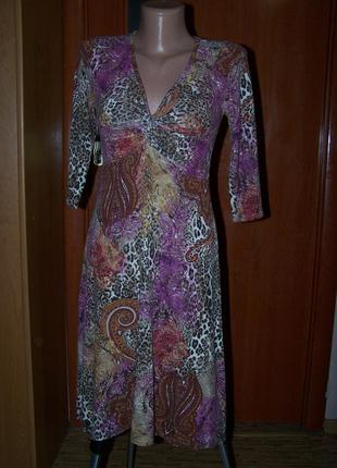 Платье принт,фасон,90%ацетат италия в идеале пог-41-58см