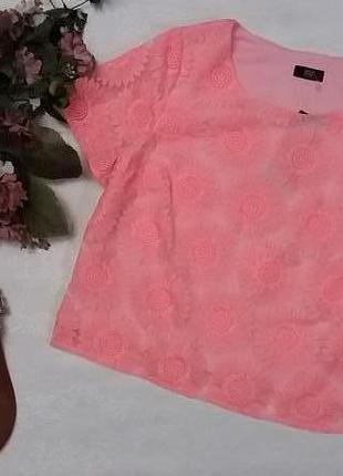 Кружевная блуза f&f 12---46 размер.