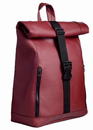 Дизайнерский женский рюкзак ролл бордовый отличная цена