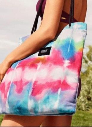 Пяжное полотенце-сумка victoria's secret