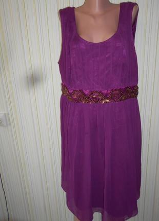 #роскошное шифоновое платье батал цвет флокс р. 26 #se fabulous# индия #  #