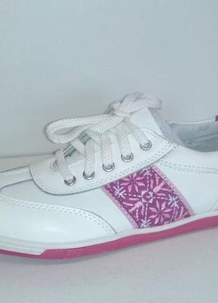 B&g фирменные кожаные туфли,кроссовки с супинатором для девочки 34-39р