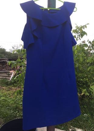 Гарна синя сукня