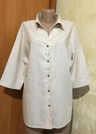 Летний натуральный жакет,рубашка с вышивкой!