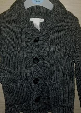 Кардиган, кофта, свитер, жакет, джемпер - фирменный h&m на 9-12 мес