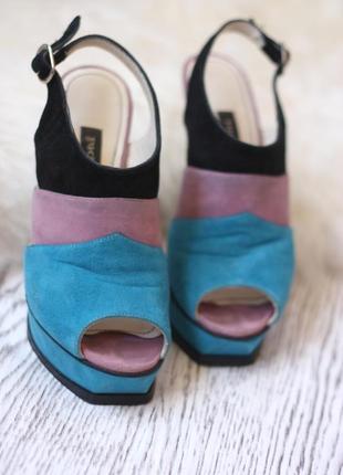 Замшеві босоніжки рр35 / замшевые босоножки /каблуки /шпильки