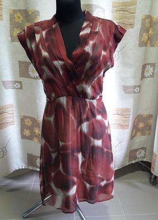 Платье шелк  esprit