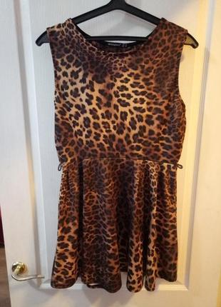 Леопардовое платье летнее atmosphere. хочу освободить место в шкафу)))