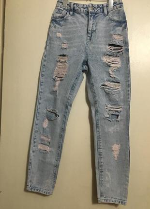Крытые джинсы с высокой посадкой denim co