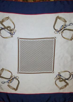 Шелковый платок  70-е года gucci оригинал
