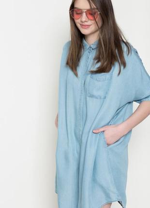 Джинсовое платье - рубашка оверсайз  medicine (бесплатная доставка)