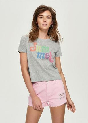 10-35 женская футболка sinsay